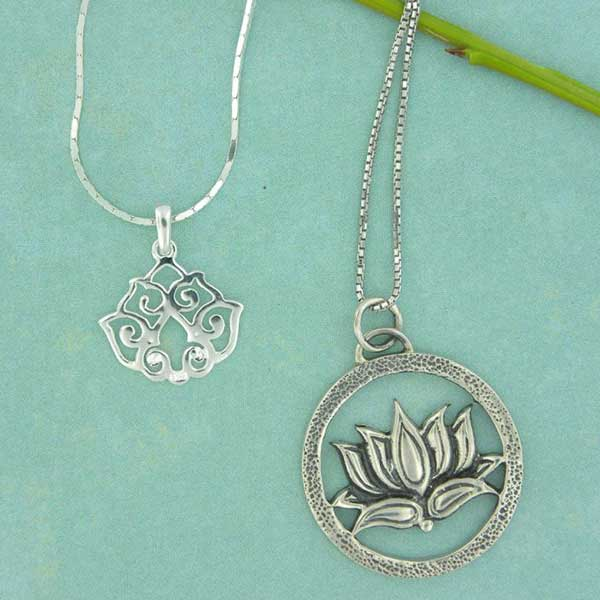 Sterling Silver Lotus jewelry