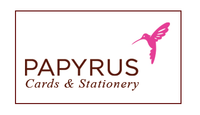 We carry Papyrus Cards and stationaery